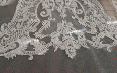Lace Hem With Netting Border